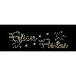 Felices Fiestas con Estrella de Mar 507.5 x 144.5 cm