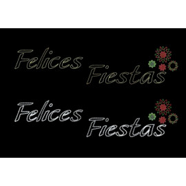 Felices Fiestas Stars 600 x 150 cm