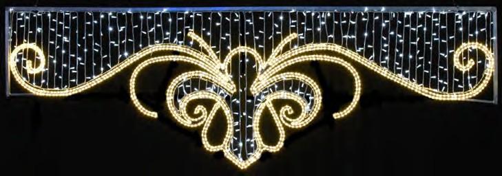 motivo luminosos cartel navidad