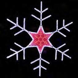 estrella Navidad iluminada de metacrilato