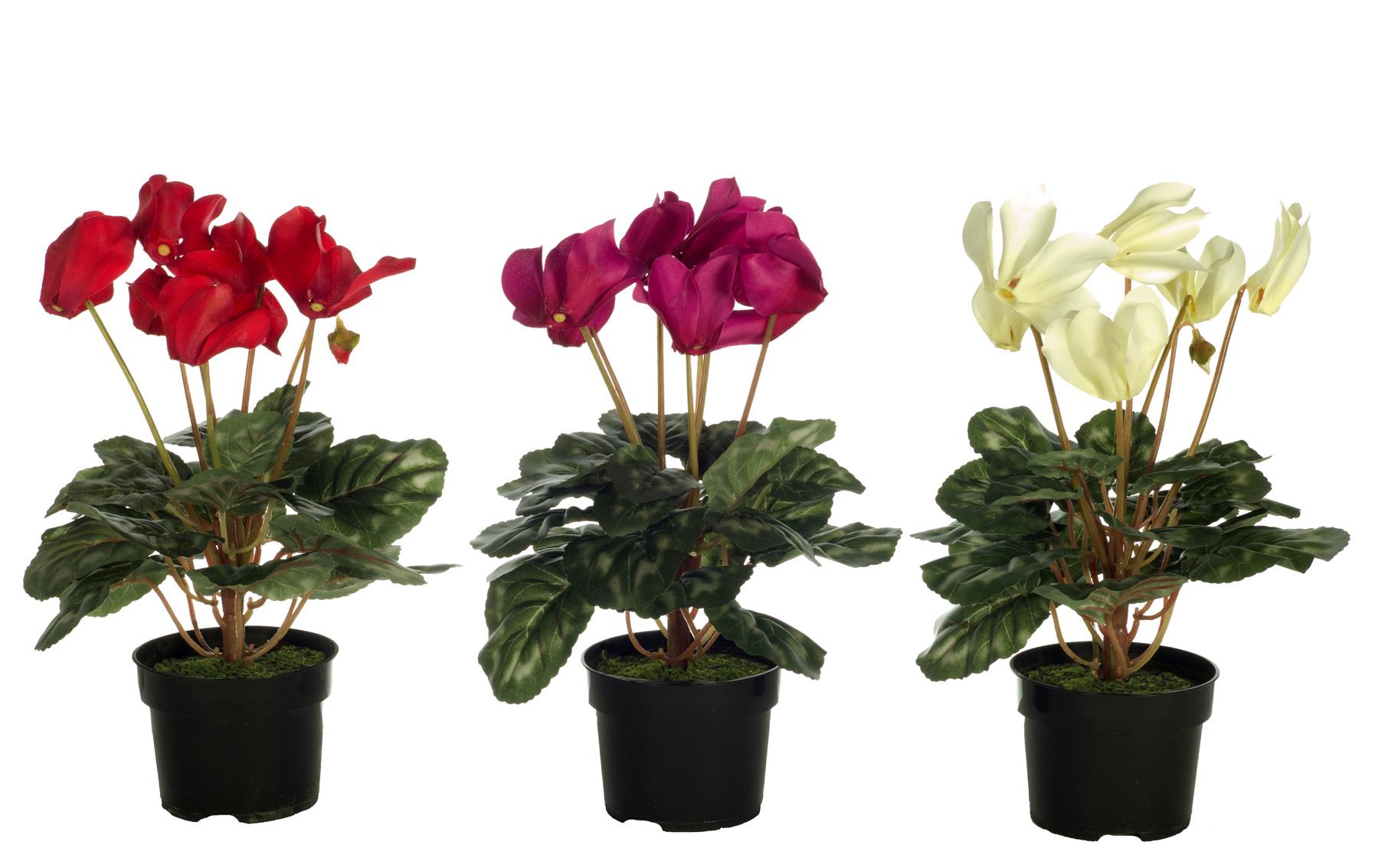 ciclamen artificial en maceta www.floresymuchomas.com