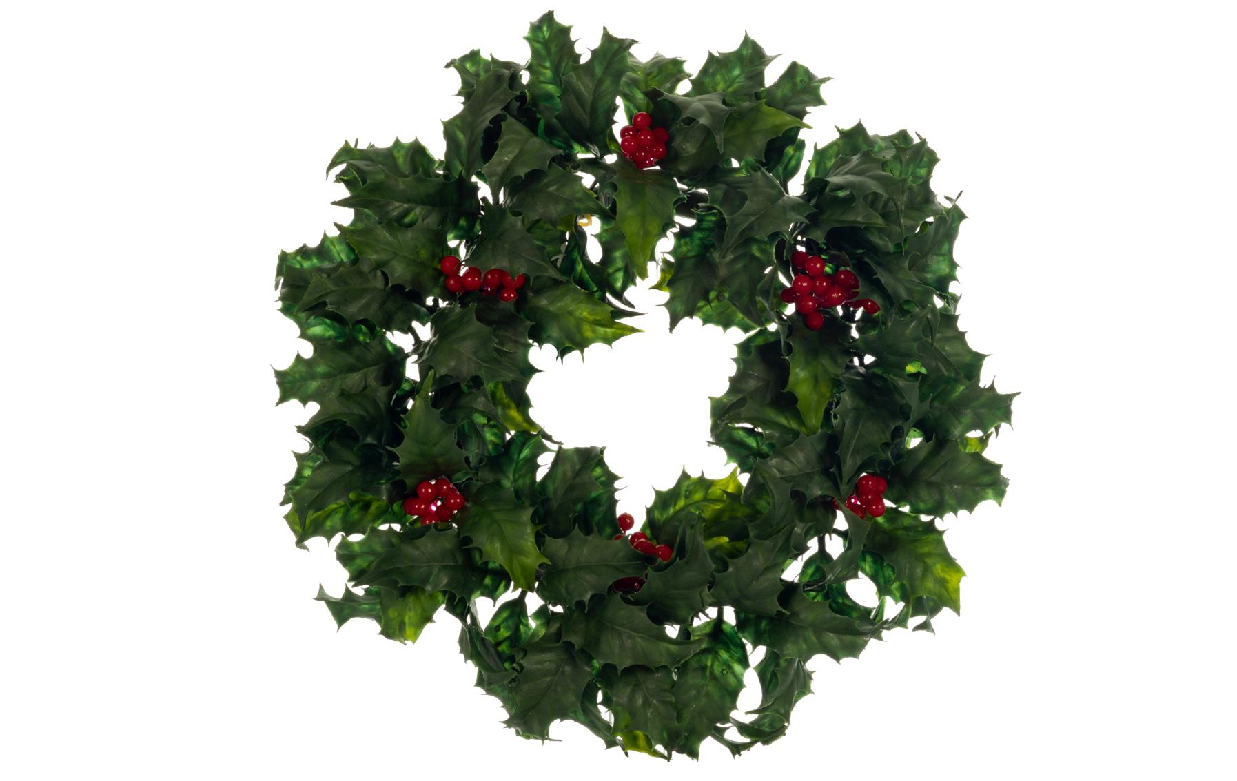 corona navidad acebo berry www.floresymuchoams.com