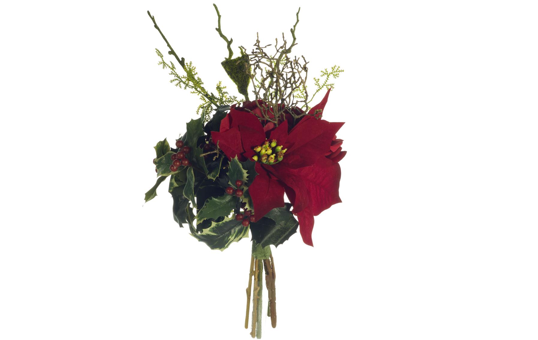Bouquet,peonia,pontsetia,rosas www.floresymuchomas.com