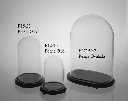 fanal campana de cristal con peana