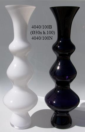 jarron de cristal blanco o negro